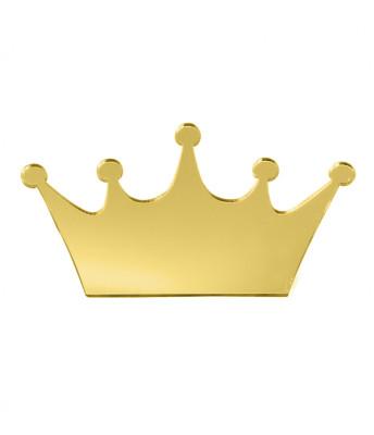 Diğer - 10lu Kişiye Özel Yazılı Aynalı Kral Tacı 6x10cm Gold