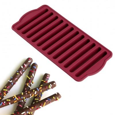 Joy Kitchen - 12 Hazneli Silikon Çubuk Çikolata ve Buz Kalıbı
