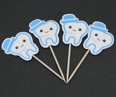 20li Diş Buğdayı Kürdanı Mavi - Thumbnail