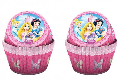 Diğer - 24lü Disney Prensesler Temalı Kağıt Cupcake ve Muffin Kek Kalıbı