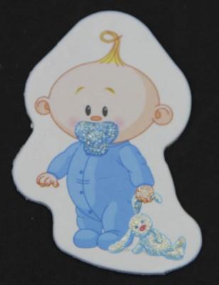 Diğer - 50li Erkek Bebek Logolu Mavi Süsleme Malzemesi