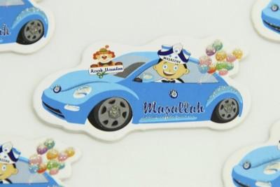 Diğer - 50li Mavi Arabada Sünnet Çocuğu Süsleme Malzemesi Logo