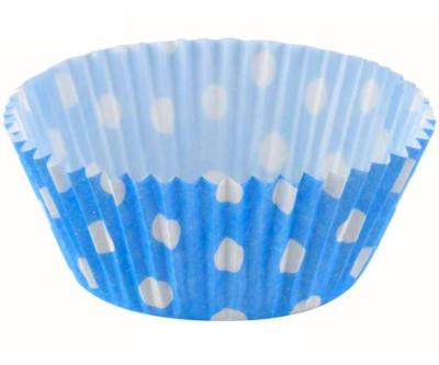 Diğer - 50li Puantiyeli Kağıt Muffin Kalıbı Mavi