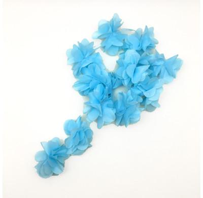 Diğer - 50li Şerit Tül Çiçek Süsleme Malzemesi Mavi