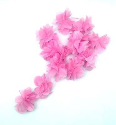 Diğer - 50li Şerit Tül Çiçek Süsleme Malzemesi Pembe