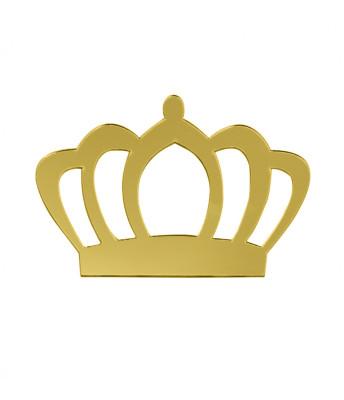 Diğer - 5li Kişiye Özel Yazılı Aynalı Sticker Kral Tacı 8x10cm Gold