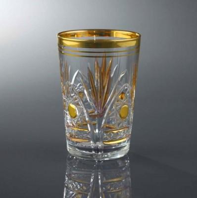 Diğer - 6lı Kristal Kesme Altın Yaldızlı Su Bardağı