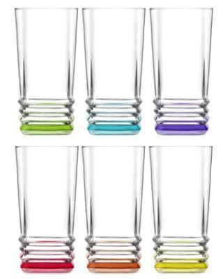 Lav - 6lı Lav Coral Elegan Renkli Meşrubat Bardağı