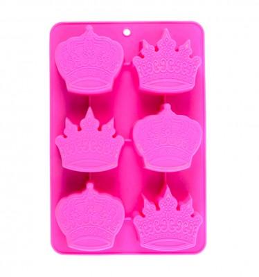 Joy Kitchen - 6lı Prens ve Prenses Tacı Tasarımlı Silikon Mini Kek Kalıbı