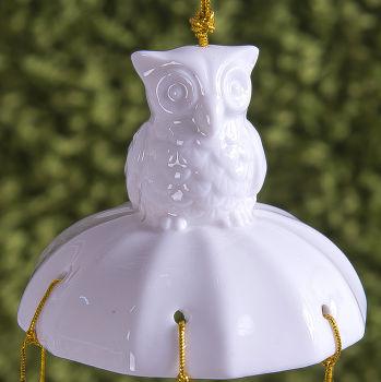 7li Baykuş Tasarımlı Seramik Rüzgar Çanı