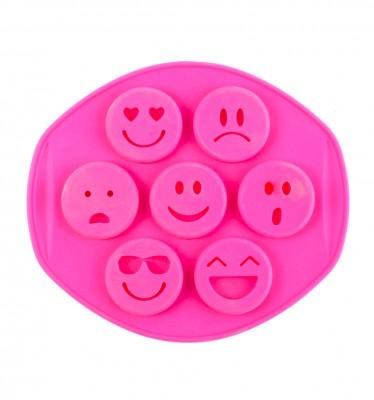 Joy Kitchen - 7li Karışık Emoji Figürlü Silikon Muffin Kek Kalıbı