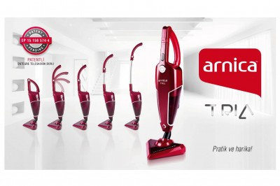 Arnica - Arnica Tria Hepa Filitreli Dik Mini Elektrikli Süpürge