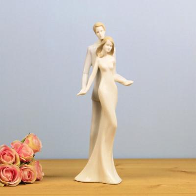 Diğer - Aşık Çift Porselen Biblo 27cm