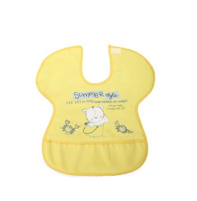Diğer - Ayıcık Desenli Yengeç Model Muşamba Mama Önlüğü Sarı