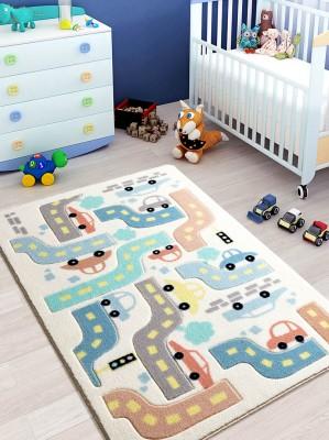 Confetti - Baby Car Trafik Temalı Çocuk ve Bebek Odası Halısı 100x150cm