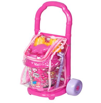 Diğer - Barbie Princess Power Çek Çek Arabalı Plaj Oyun Seti 57cm