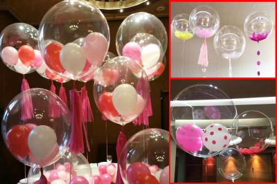 Diğer - Baskısız Şeffaf PVC Parti Balonu 27cm
