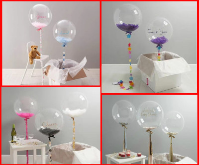 Baskısız Şeffaf PVC Parti Balonu 27cm - Thumbnail