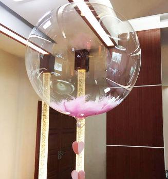 Baskısız Şeffaf PVC Parti Balonu 27cm