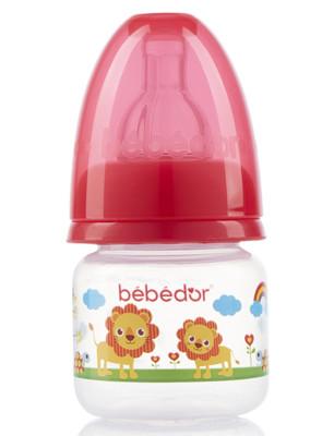 Diğer - Bebedor Desenli Mini Biberon Yavaş Akış 60ml Kırmızı