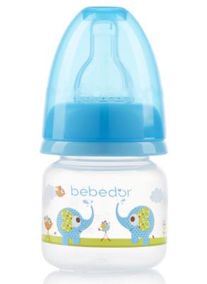 Diğer - Bebedor Desenli Mini Biberon Yavaş Akış 60ml Mavi