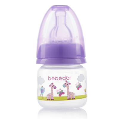 Diğer - Bebedor Desenli Mini Biberon Yavaş Akış 60ml Mor