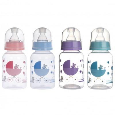 Diğer - Bebedor Desenli PP Biberon Orta Akış 125ml Mavi