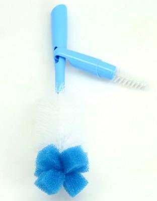 Bebedor - Bebedor Süngerli Biberon ve Emzik Fırçası Seti Mavi