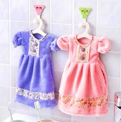 Diğer - Bebek Elbisesi Tasarımlı El Havlusu