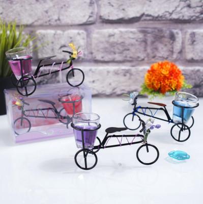 Diğer - Bisiklet Tasarımlı Dekoratif Jel Mum Asorti