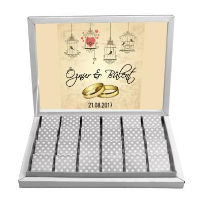 Diğer - Çikolata Kutusu İçin Söz ve Nişan Temalı Özel Tasarım Baskı 29,7x21cm