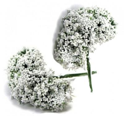 Diğer - Cipso Çiçek Bebek ve Nikah Şekeri Süsü Beyaz