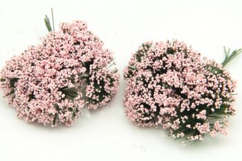 Cipso Çiçek Bebek ve Nikah Şekeri Süsü Pembe