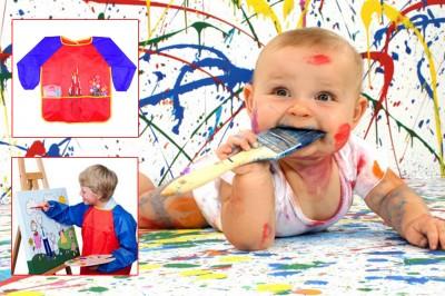 Diğer - Çocuklar İçin Boyama Önlüğü