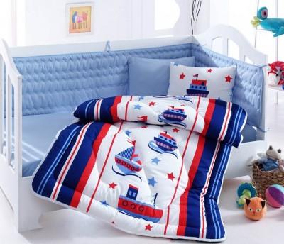 Cotton Box - Cottonbox Denizci Gemi Baskılı Pamuklu Bebek Uyku Seti