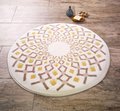 Confetti - Craft Yuvarlak Banyo Halısı Açık Kahve 67cm