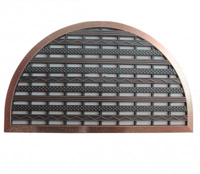 Diğer - Delikli Kapı Önü Kauçuk Yarım Ay Paspas 44x70cm Bronz