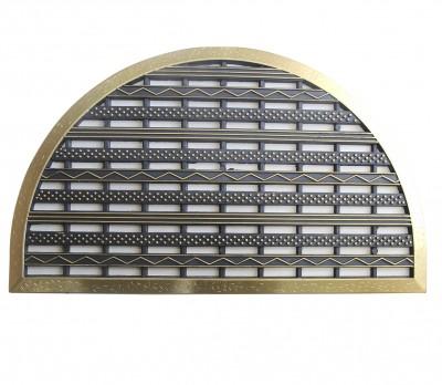 Diğer - Delikli Kapı Önü Kauçuk Yarım Ay Paspas 44x70cm Gold