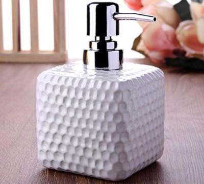 Diğer - Desenli Kare Modern Tasarım Porselen Sıvı Sabunluk 15cm