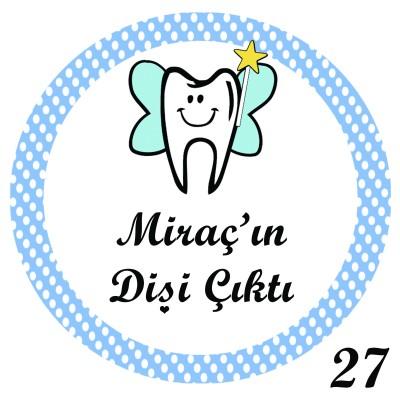 Diğer - 24lü Diş Buğdayı Etiketi Yuvarlak 4cm.