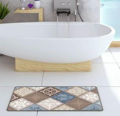 Diğer - Dormina HD Kaydırmaz Taban Banyo ve Kapı Önü Paspası Mavi