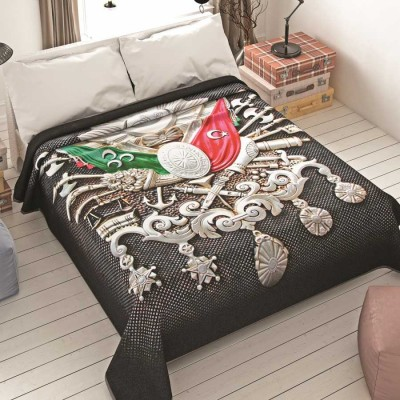 Diğer - Dormina Hd Osmanlı Arması Desenli Çift Kişilik Battaniye