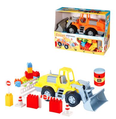 Diğer - Dozer ve Bloklar İnşaat Çocuk Oyun Seti 40 Parça