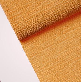 Düz Renk Desenli Krapon Hobi ve Süsleme Kağıdı 50x250cm Hardal