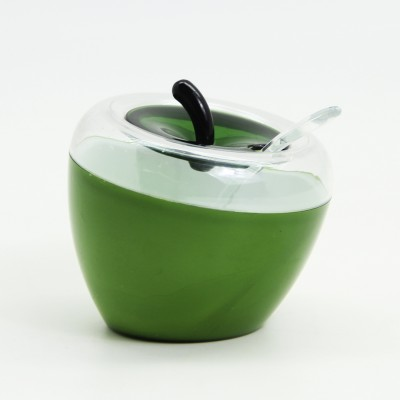 Diğer - Elma Şeklinde Kaşıklı Baharatlık Yeşil