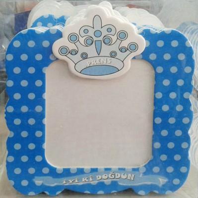 Diğer - Erkek Bebek Doğum Günü Hatırası Magnet Çerçeveler Mavi