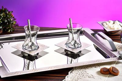 Evimsaray - Evimsaray Boğaziçi 40 Parça Çay Seti Gümüş