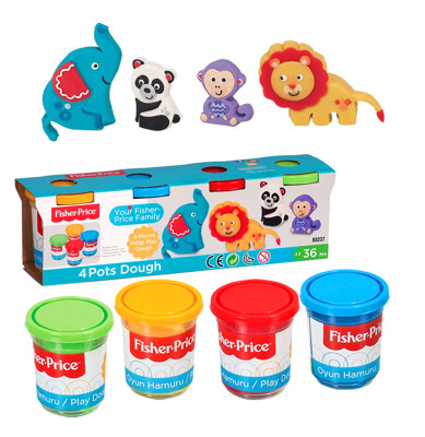 Fisher Price - Fisher Price 4lü Oyun Hamuru Seti 560Gr