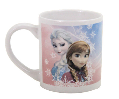 Diğer - Frozen Desenli Çift Taraflı Porselen Kupa Bardak