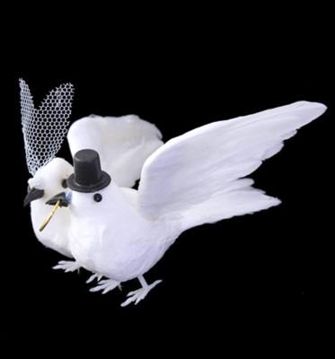 Diğer - Gelin Damat Güvercin Biblosu 17cm
